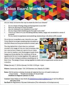 Our Vision Board Workshop Flyer.