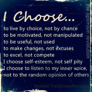 I choose to put myself first.