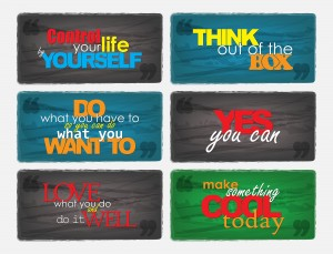 Set Of Motivational Quotes.