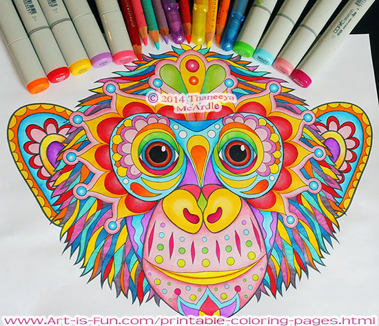 Groovy Abstract Coloring Pages : Adult coloring a growing trend life skills resource group