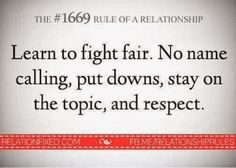 Always be respectful when fighting with a partner.